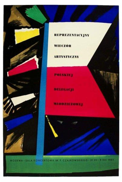 Tomaszewski Henryk - Reprezentacyjny wieczór artystyczny polskiej delegacji młodzieżowej. 1957.