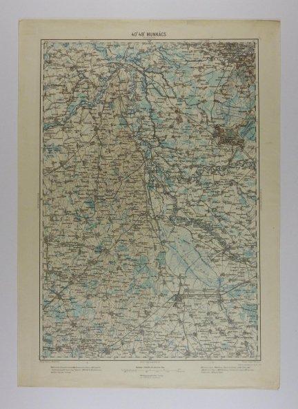 Munkacs - mapa 1:200 000