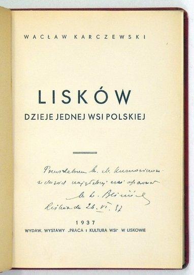 Karczewski Wacław - Lisków. Dzieje jednej wsi polskiej