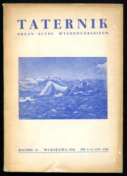 Taternik. Organ Klubu Wysokogórskiego. R. 32: 1956, nr 3-4 (153-154)