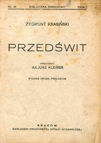 Krasiński Zygmunt - Przedświt.