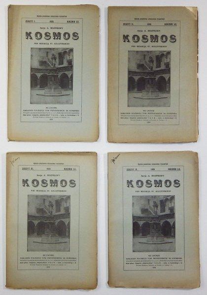Kosmos. Czasopismo Polskiego Towarzystwa Przyrodników im. Kopernika. Serja A - Rozprawy. R. 60: 1935, z. 1-4.