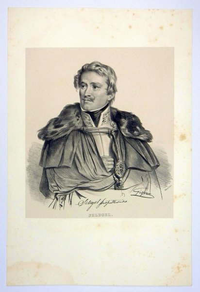 [POWSTANIE LISTOPADOWE] Szlegel - portret - litografia [1832]