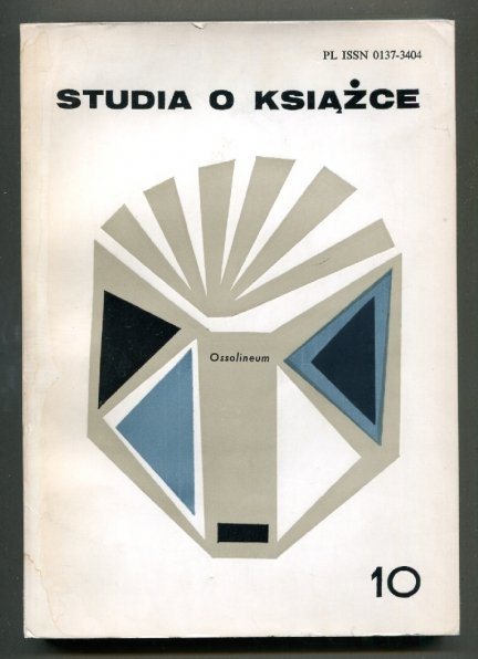 Studia o Książce. [T.] 10: 1980.