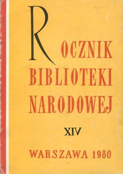 Rocznik Biblioteki Narodowej. Nr 14: 1978