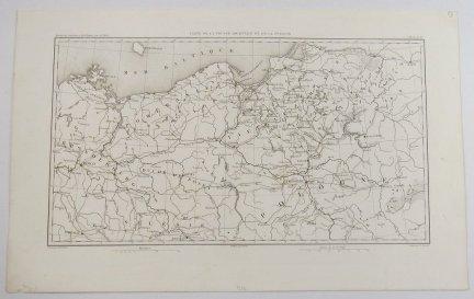 [POMORZE]. Carte de la Prusse Orientale et de la Pologne.