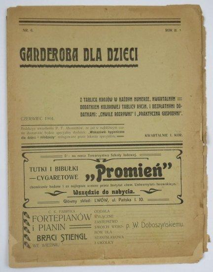 Garderoba dla Dzieci. R. II, nr 6: VI 1904.