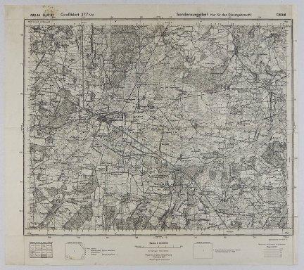 Chełm - mapa 1:100 000 PAS 44 SŁUP 37 [Grossblatt 377 NW]