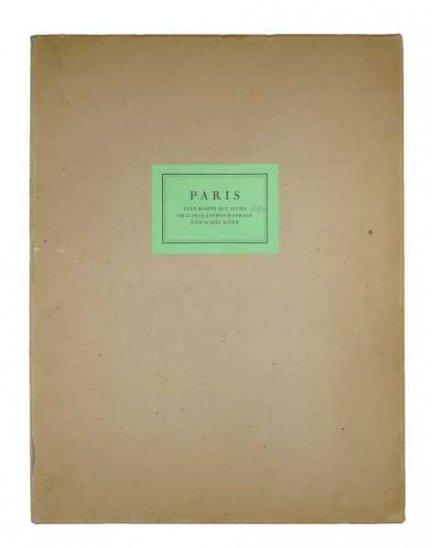 WENK Willi - Paris. Eine Mappe mit sechs original Lithographien