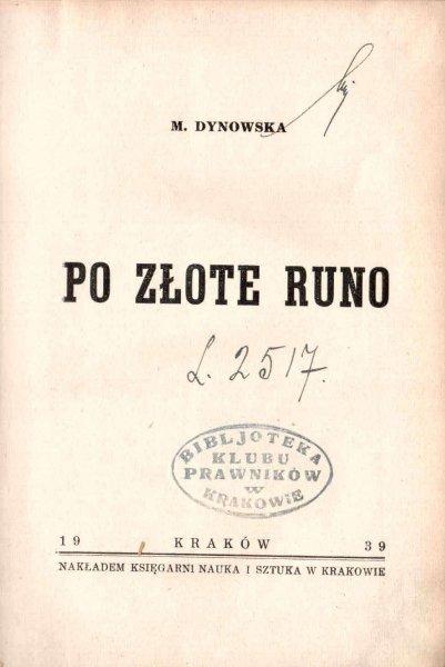 Dynowska Maria - Po złote runo.
