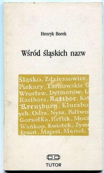 Borek Henryk - Wśród śląskich nazw