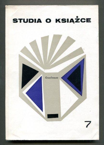 Studia o Książce. [T.] 7: 1977.