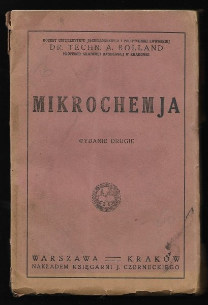 Bolland A. Mikrochemja. Wyd. II