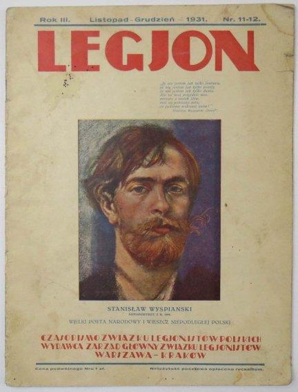 Legjon. Czasopismo Związku Legjonistów Polskich. R.III, XI-XII 1931. Nr 11-12.