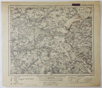 326. Miloslaw-Pyzdry. A33 - mapa 1:100 000 [Karte des Deutschen Reiches. (Ausgabe fur Grenzschutzzwecke]