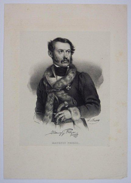 [POWSTANIE LISTOPADOWE] Maurycy Prozor - portret - litografia [1832]