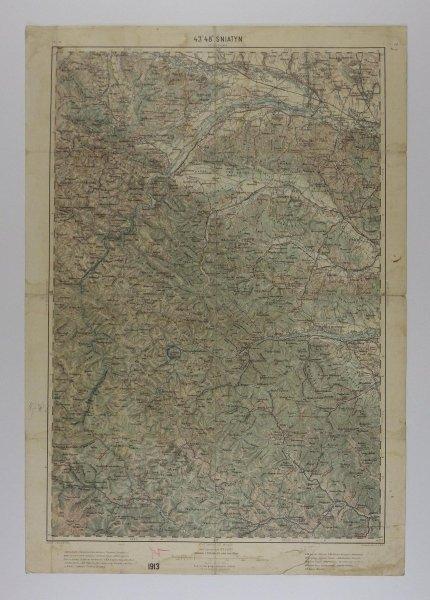 Śniatyn - mapa 1:200 000