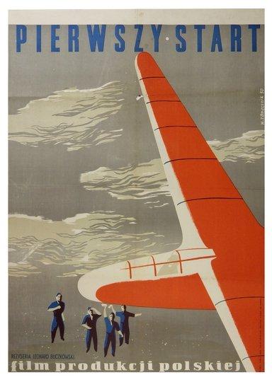 Wojciech Zamecznik Pierwszy Start Plakat Filmowy 1950