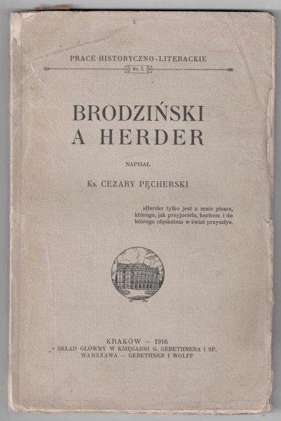 Pęcherski Cezary - Brodziński i Herder