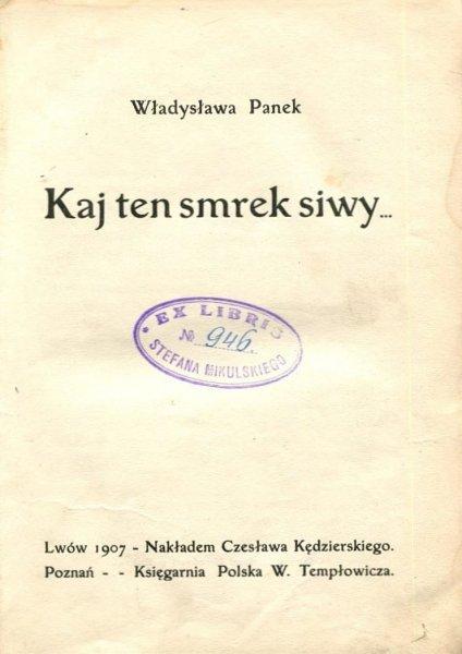 Panek Władysław - Kaj ten smrek siwy...