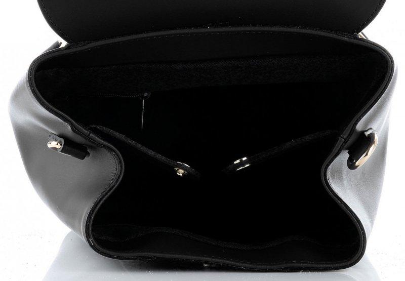 Plecak Skórzany VITTORIA GOTTI Made in Italy Czarny
