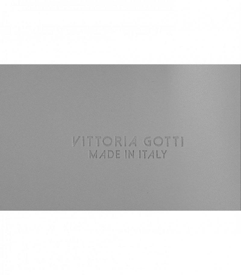 Torebka Skórzana VITTORIA GOTTI Made in Italy Szara