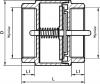 ARMATURA KRAKÓW - zawór zwrotny do wody z mosiężnym grzybkiem 710-010-25