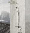 REA - Zestaw natryskowy Milan + bateria termostatyczna