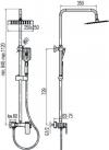 VELVEX - Zestaw natryskowy z baterią LOFT 2455740
