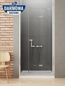 NEW TRENDY Drzwi wnękowe prysznicowe składane NEW SOLEO Rozmiary 70-120cm