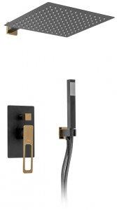 REA - Zestaw natryskowy podtynkowy SOHO czarno złoty black/gold