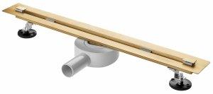 AQUALine Odpływ liniowy podłogowy złoty/gold SUPER SLIM INVISIBLE 110cm RSP01GL NOWOŚĆ