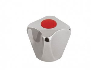 ARMATURA KRAKÓW - Uchwyt czworokątny z metalowym gniazdem wieloklinu 892-015-00 CZERWONY