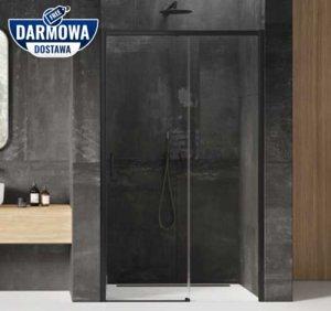 NEW TRENDY - Drzwi wnękowe prysznicowe przesuwne PRIME BLACK Rozmiary 100-160 cm
