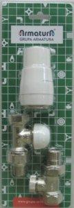 ARMATURA KRAKÓW - Pakiet zawór termostatyczny prosty 757-000-07-BL