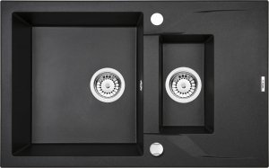 DEANTE Zlewozmywak ANDANTE 1,5-komorowy z krótkim ociekaczem - grafitowy metalik ZQN G513