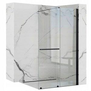 REA - Ścianka prysznicowa CORTIS 100  black/czarna