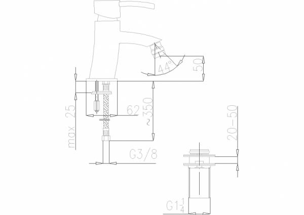 ARMATURA KRAKÓW - Diament Bateria bidetowa 4107-011-00