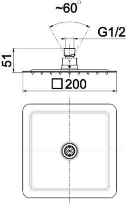 ARMATURA KRAKÓW - dysk przegubowy natryskowy deszczownia deszczownica 200x200 842-350-00-BL
