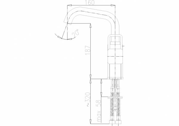 ARMATURA KRAKÓW - Brylant Bateria umywalkowa stojąca (wylot U) 4303-615-00
