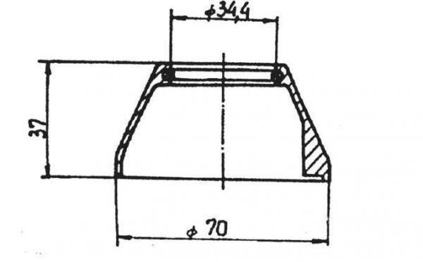 ARMATURA KRAKÓW - Rozeta stożkowa wysoka do baterii CORAL 827-002-00