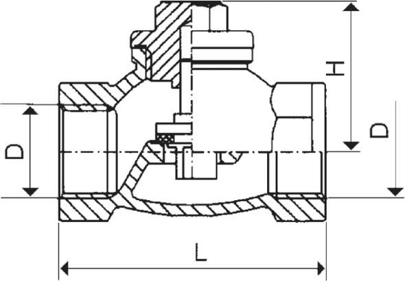 ARMATURA KRAKÓW - zawór zwrotny żeliwny do wody 192-010-80
