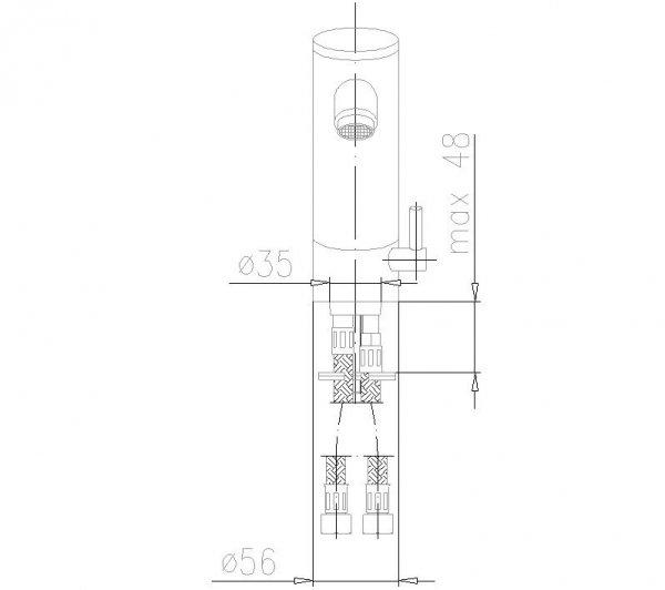 ARMATURA KRAKÓW - Bateria bezdotykowa umywalkowa TWIST 592-110-00