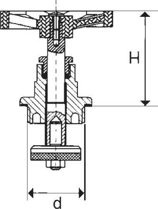ARMATURA KRAKÓW - głowica do zaworów żeliwnych   881-410-15