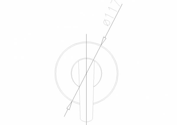 ARMATURA KRAKÓW - Rubin Bateria natryskowa podtynkowa 569-610-00