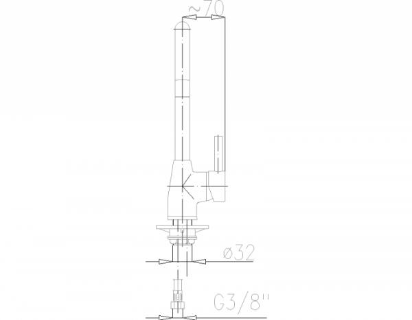 ARMATURA KRAKÓW - OMEGA zlewozmywakowa stojąca 6603-915-00