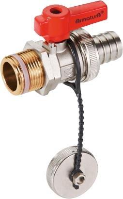 ARMATURA KRAKÓW -zawór wodny, spustowy ze złączką, zaślepką i z dźwignią 705-010-20