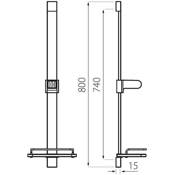 FERRO - Natrysk przesuwny 1-funkcyjny Quadro N110