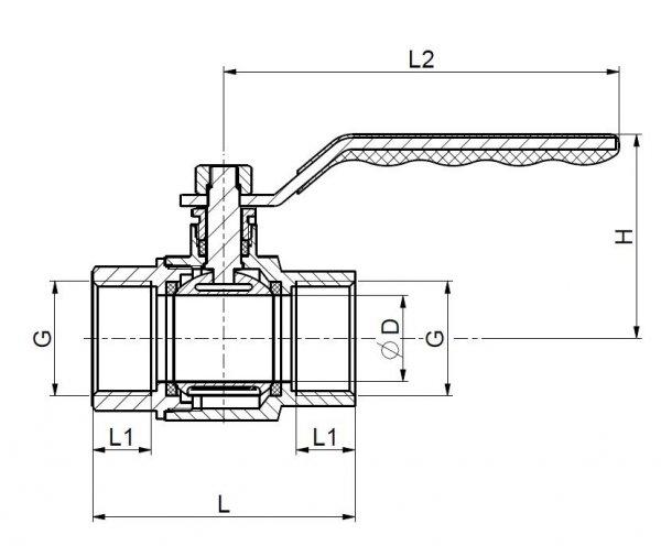 ARMATURA KRAKÓW - Zawór kulowy wzmocniony QUADRO HIGH PRESSURE