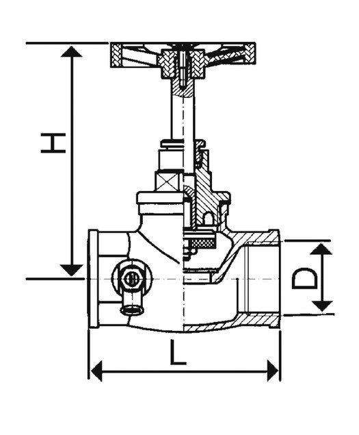 ARMATURA KRAKÓW - Zawór przepływowy żeliwny 2 1/2 193-010-65